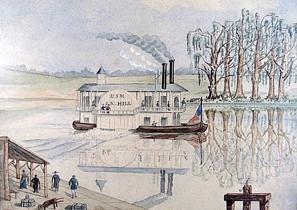 1850_Watercolor_SteamerJ.R.HILL_forNORI