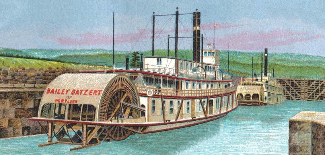 BaileyGatzertRegulatorCascadeLocks1905LithoCard