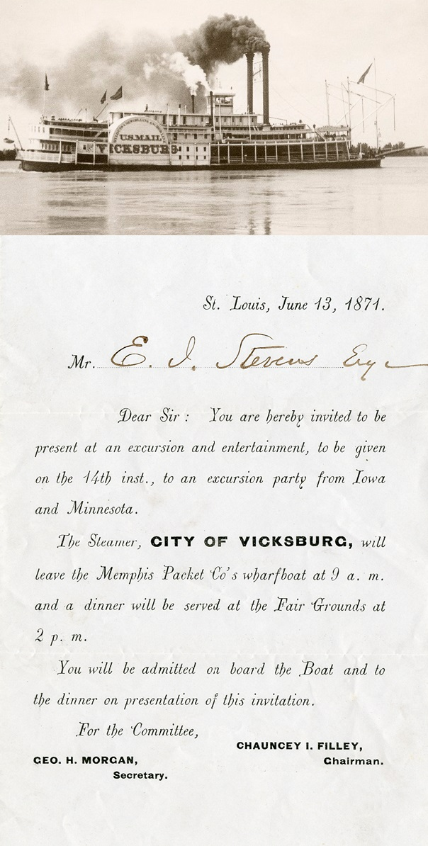 CityOfVicksburgInvitationStLouis13June1871WithPhoto