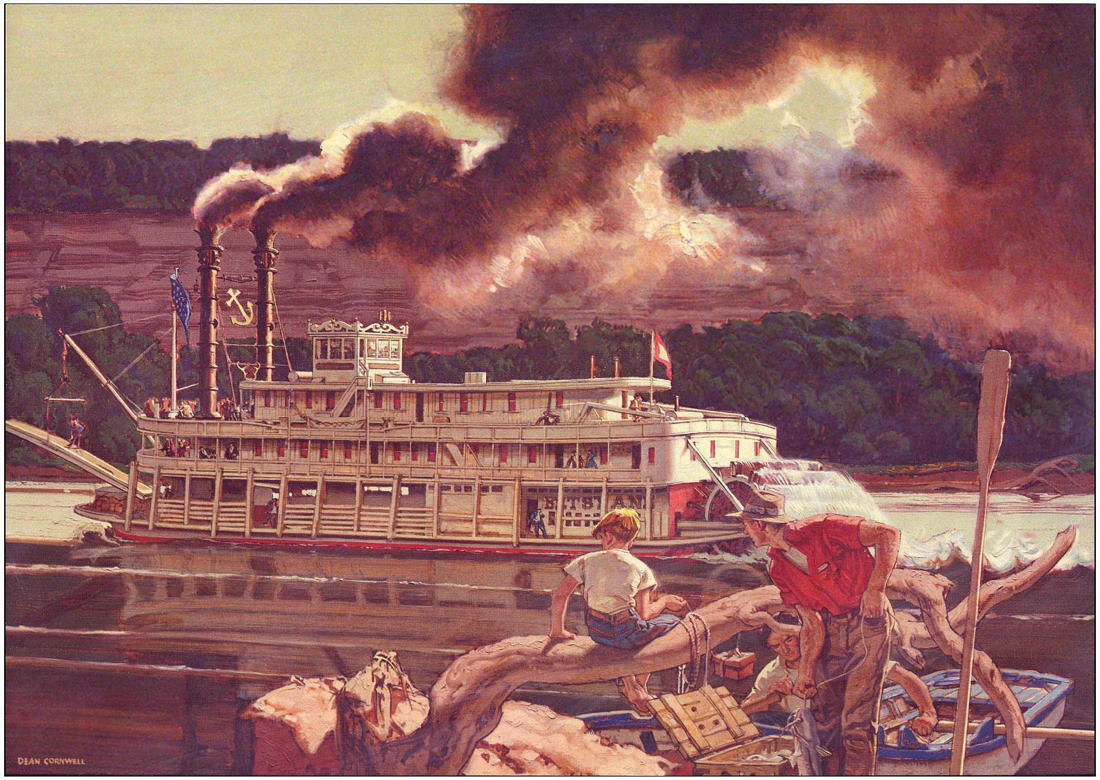 Cornwell BETSY ANN Kentucky Riverboat 11.75 X 13