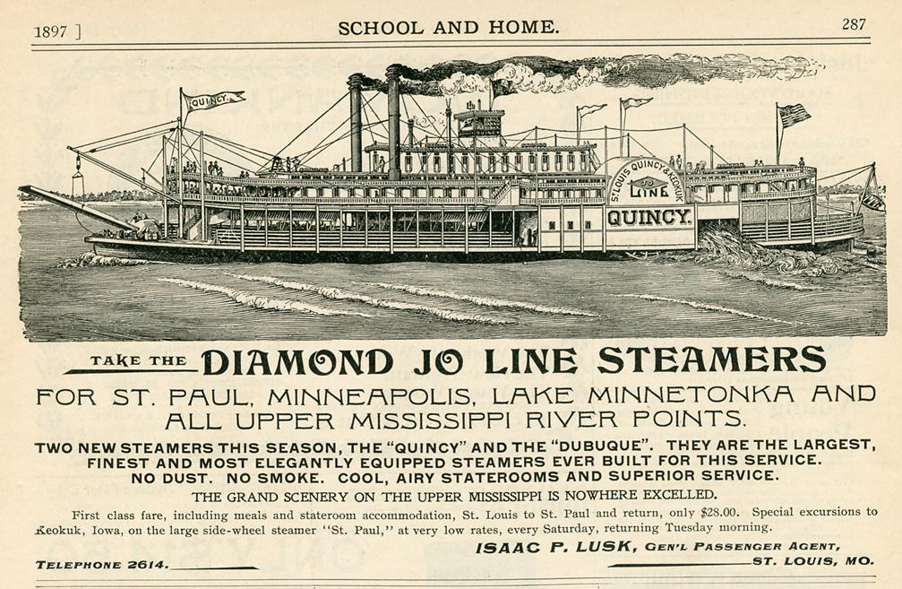 Diamond Joe School and home 1897 HALF size EXP