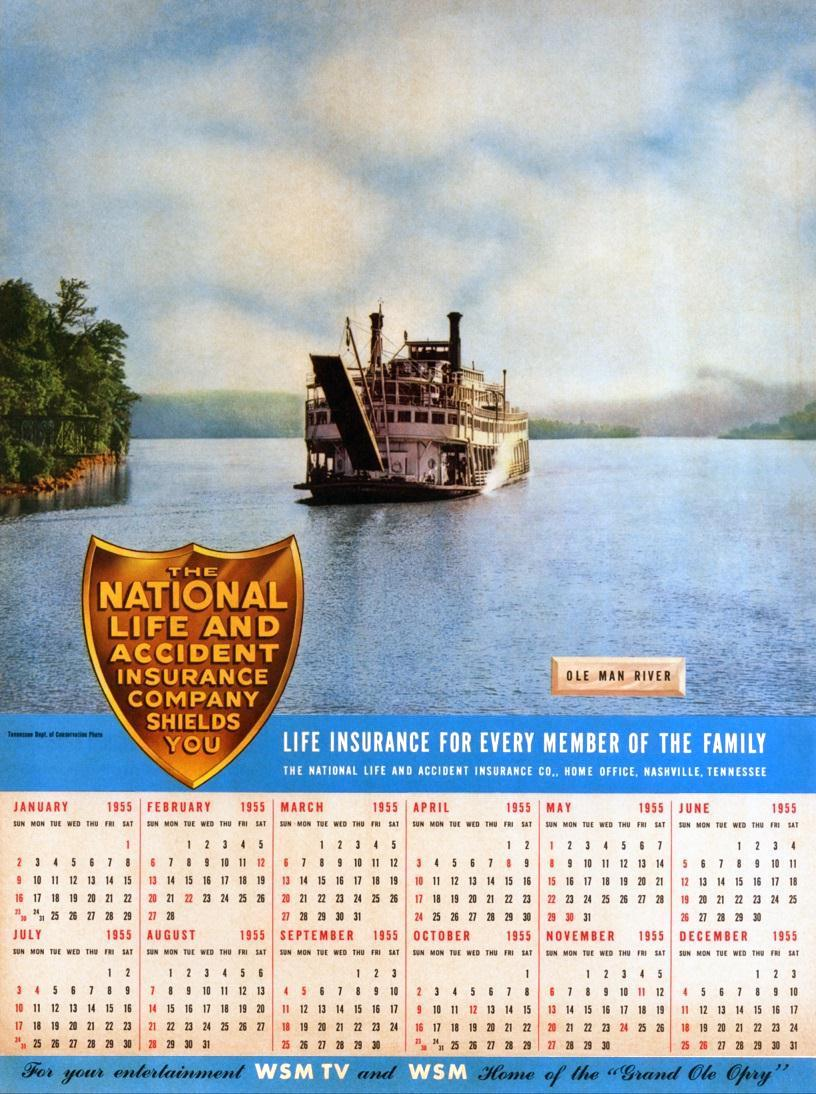 GordonCGreene1955CalendarNatlLifeInsurEXP