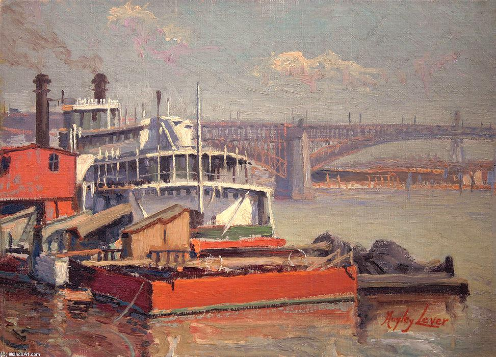 Harbor_Boat_Mark_Twain_Richard_Haley_Lever-__Mississippi_Eads_Bridge_St_LouisEXP