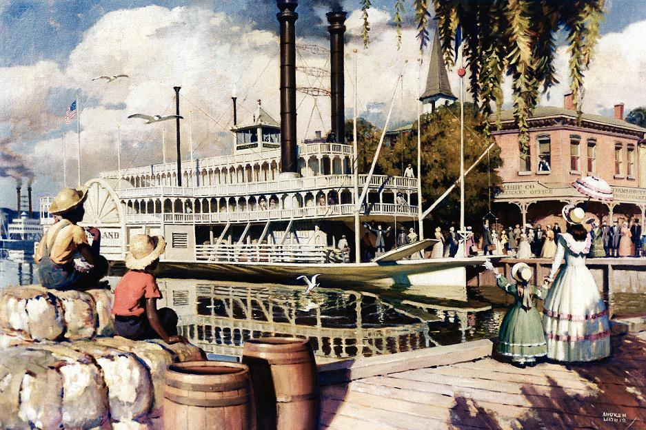 LOOMIS steamboat Painting 33 percent