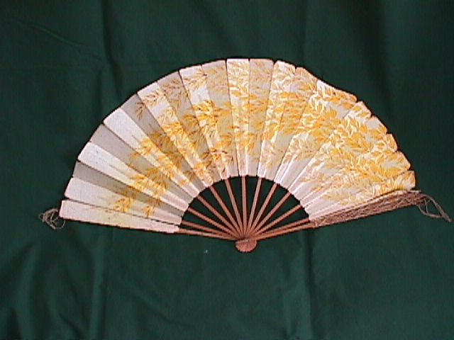 Victorian fan, autographed by steamboat people