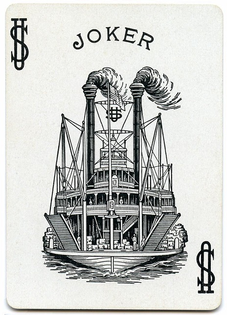 SteamboatPlayingCardJokerUS