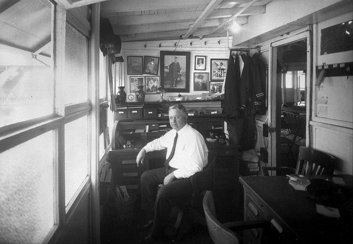 Streckfus Captain Roy in his office on the CAPITOLforNORI