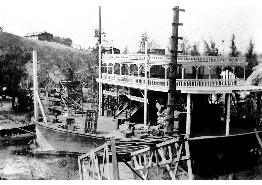 old paddlewheel steamboat