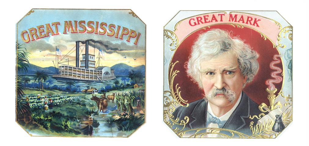 GreatMississippi&GreatMarkOctagonalCigarBoxLabelsEXP