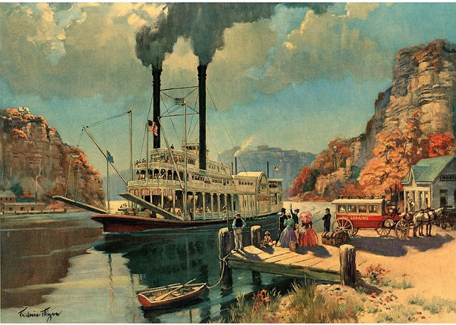 Frederic Mizen steamboat illustration