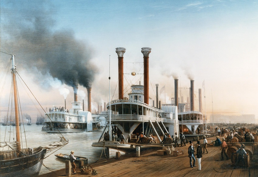Hippolyte Sebron steamboat illustration