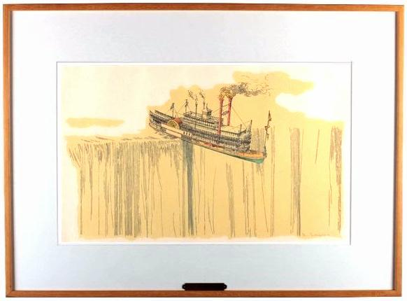 steamer_Waterfall-william-richard-crutchfield-matted-framed